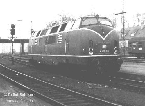 1964 war V200 104 im Hbf Lindau im Dienst